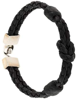 King Baby Studio hook clasp square knotted bracelet