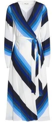 Diane von Furstenberg Printed Silk-Crepe Wrap Dress