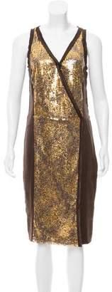Magaschoni Silk Midi Dress w/ Tags
