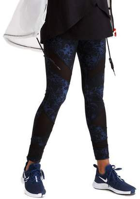 Ingrid & Isabel Maternity Active Printed Leggings with Mesh Insets & Crossover Panel