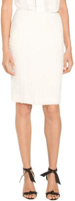 St. John Flagged Textural Knit Skirt