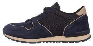 Tod's Suede-Trimmed Low-Top Sneakers w/ Tags