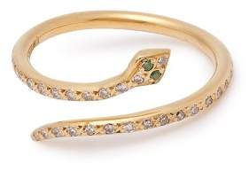 Ileana Makri Python Diamond & 18kt Gold Ring - Womens - Gold