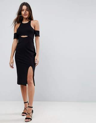 Finders Keepers Leon Cut Away Bodycon Dress
