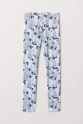 H&M Leggings with Printed Design - White