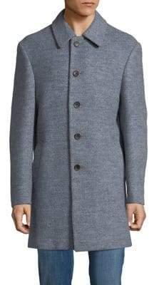 Tallia Orange Marled Wool-Blend Coat