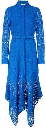 Ganni lace long belted dress