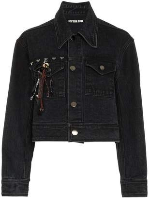 Hyein Seo studded crop denim jacket