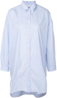 Woolrich striped oversized longline shirt