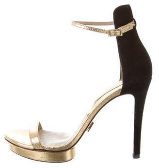 Michael Kors Metallic Platform Sandals