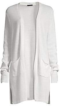 ATM Anthony Thomas Melillo Women's Open Front Cashmere Cardigan