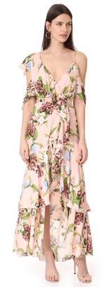 Nicholas Evie Floral Wrap Flounce Maxi Dress $750 thestylecure.com