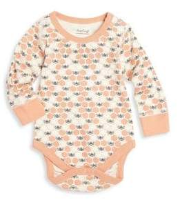 Baby Girl's Honeybee Printed Organic Cotton Onesie