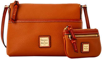 Dooney & Bourke Pebble Grain Ginger & Small Coin Case