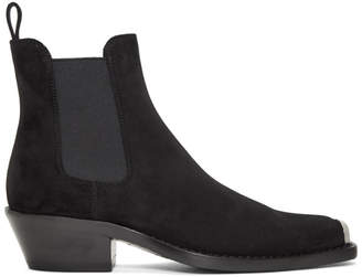 Calvin Klein Black Suede Western Chris Crosta Boot