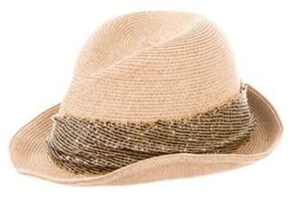 Eugenia Kim Straw Fedora Hat Tan Straw Fedora Hat