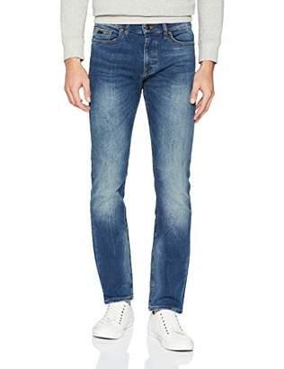 BOSS Men's Delaware Bc-l-p Straight Jeans, (Medium Blue 420), (Size: 38 34)