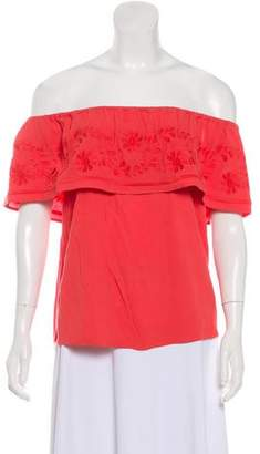 Rebecca Minkoff Off-the-Shoulder Embroidered Top