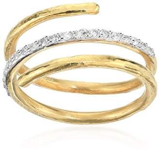 Gurhan Delicate Pave Diamond Spring Ring