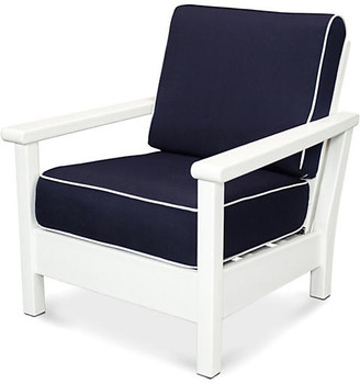 Polywood Harbour Deep-Seating Chair - Navy/Tan