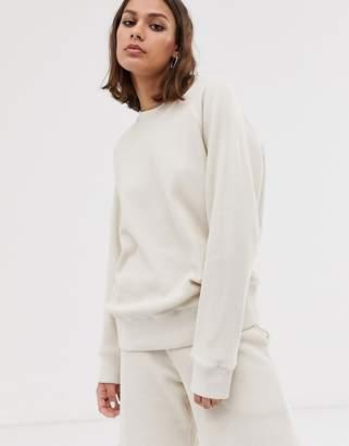 M.C. Overalls long sleeve sweatshirt in waffle