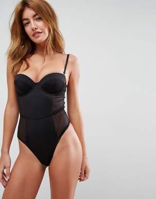 Asos Design Amber Microfibre Underwire bodysuit
