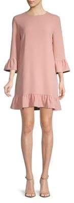 WAYF Ruffle Bell-Sleeve Dress