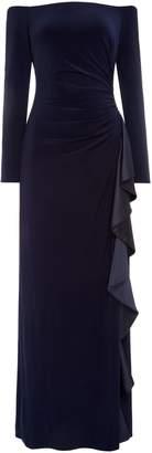 Lauren Ralph Lauren Long sleeve dress with frill side detail