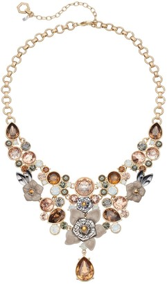 Vera Wang Simply Vera Flower & Faceted Stone Statement Necklace