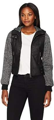 Moto Jason Maxwell Womens Outerwear Women's Jacket with Melange Sleeves