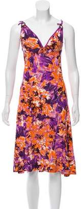 Just Cavalli Printed Midi Dress w/ Tags