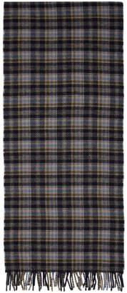 A.P.C. Navy Check Denis Scarf