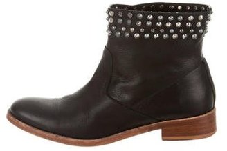 Zadig & Voltaire Leather Studded Ankle Boots $150 thestylecure.com