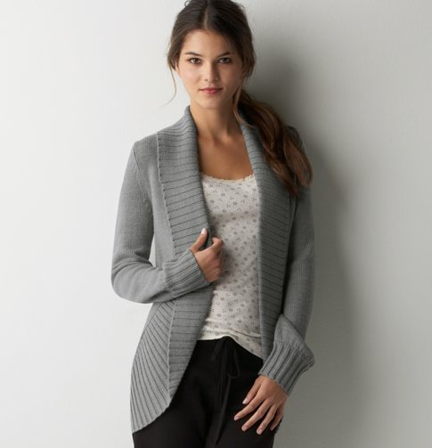 Petite Open Front Cocoon Cardigan