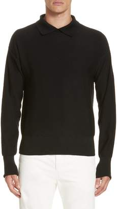 Lemaire Long Sleeve Wool Polo