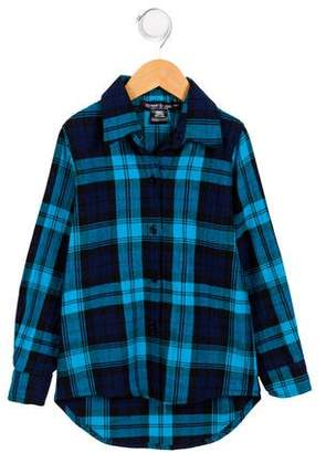 Flowers by Zoe Girls' Plaid Button-Up Top w/ Tags