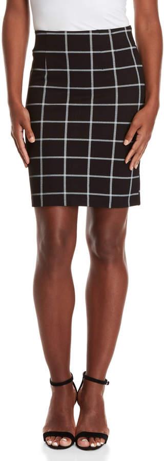 Amanda + Chelsea Petite Check Skirt