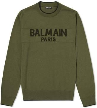 Balmain Paris Intarsia Logo Knit