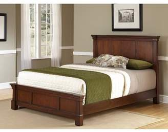 Home Styles The Aspen Collection King Bed, Rustic Cherry/Black