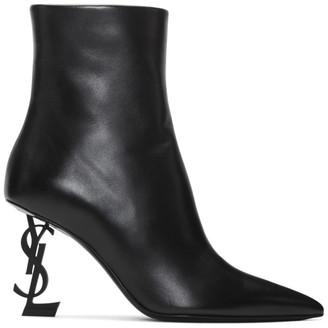 Saint Laurent Black Opyum Boots