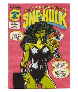 Olympia Le-Tan The Sensational She-Hulk embroidered book clutch