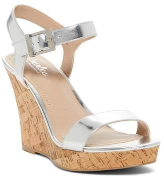 Charles by Charles David Lindy Metallic Leather Wedge Sandal