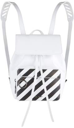 Off-White Diagonals Leather Backpack