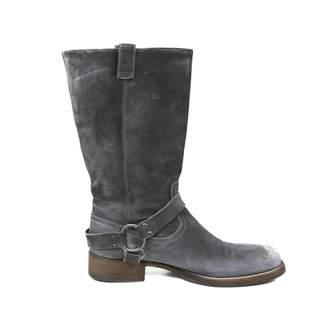 Brunello Cucinelli Grey Suede Boots