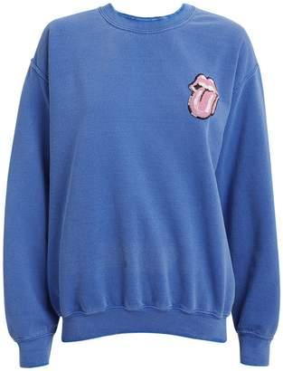 MadeWorn Rolling Stones Tongue Sequin Sweatshirt