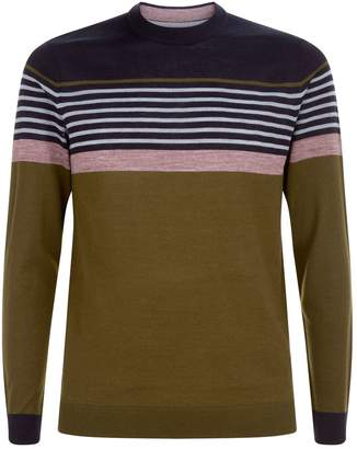 Ted Baker Giantbu Striped Crew Neck Sweater