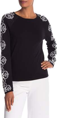 Cynthia Steffe CeCe by Lace Patterned Jacquard Sweater