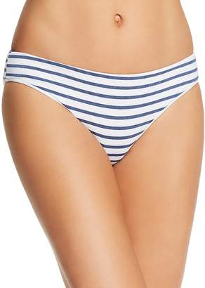 Splendid Chambray Stripe Retro Bikini Bottom