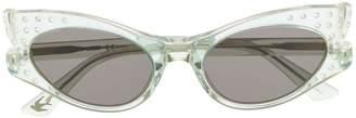 Alexander McQueen Eyewear transparent cat-eye sunglasses