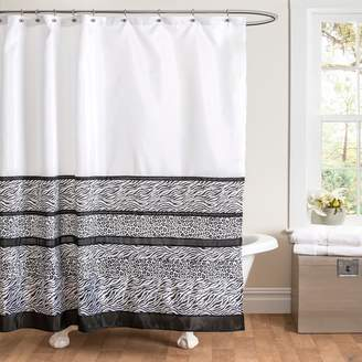 Lush Decor Tribal Dance Fabric Shower Curtain